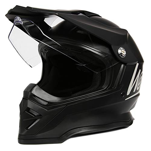 Westt Cross - Casco Moto Motocross Off-Road en Negro Mate - ECE Homologado